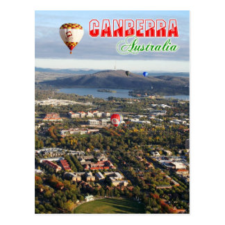 Aerial view of Canberra - Australia's capital Postcard