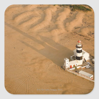 Aerial view of Cape Recife Lighthouse, Nelson Square Sticker