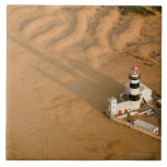 Aerial view of Cape Recife Lighthouse, Nelson Large Square Tile