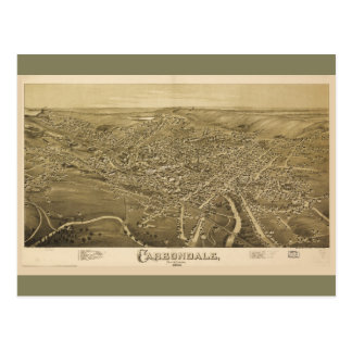 Aerial View of Carbondale, Pennsylvania (1890) Postcard