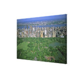 Aerial view of Central Park and the west side Canvas Print