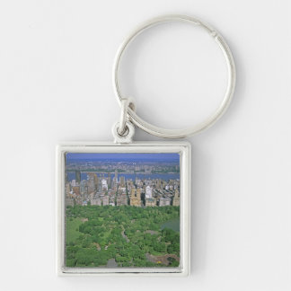 Aerial view of Central Park and the west side Keychain