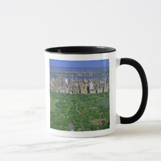 Aerial view of Central Park and the west side Mug