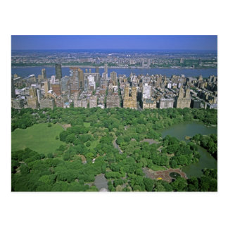 Aerial view of Central Park and the west side Postcard