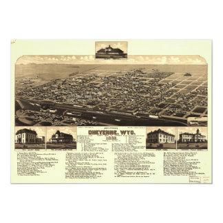 Aerial View of Cheyenne, Wyoming (1882) Card
