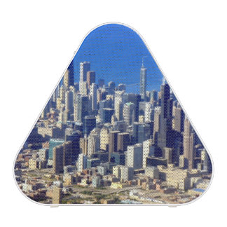 Aerial view of Chicago Downtown with Lake Bluetooth Speaker