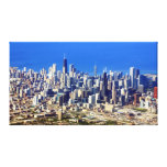 Aerial view of Chicago Downtown with Lake Gallery Wrap Canvas