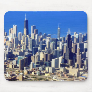 Aerial view of Chicago Downtown with Lake Mouse Pad