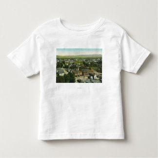 Aerial View of City, Fire Station & Municipal Tee Shirt