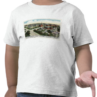 Aerial View of City Hospital Tee Shirts