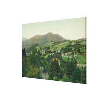 Aerial View of City, Mt Tamalpais Canvas Print