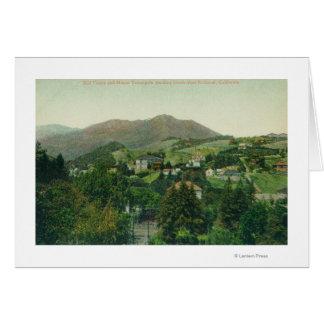 Aerial View of City, Mt Tamalpais Card