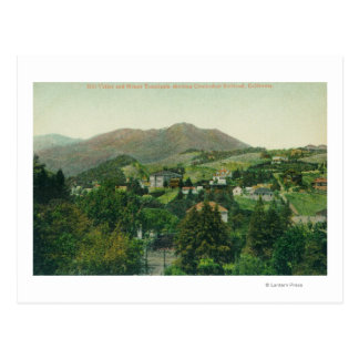 Aerial View of City, Mt Tamalpais Postcard