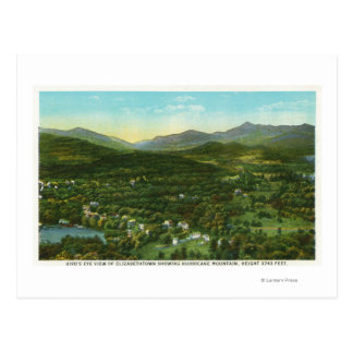 Aerial View of City with Hurrican Mountain Postcard