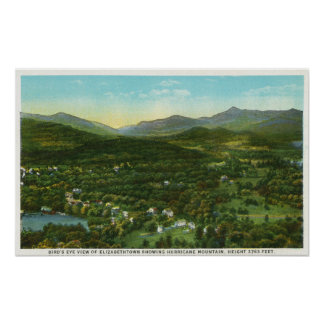 Aerial View of City with Hurrican Mountain Poster