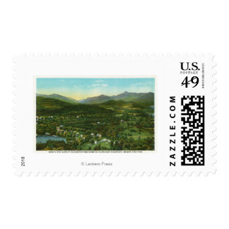 Aerial View of City with Hurrican Mountain Stamp