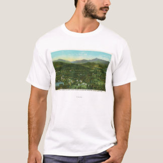 Aerial View of City with Hurrican Mountain T-Shirt