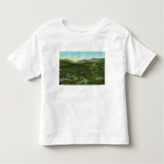Aerial View of City with Hurrican Mountain Toddler T-shirt
