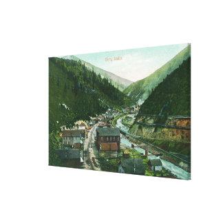 Aerial View of CityGem, ID Canvas Print