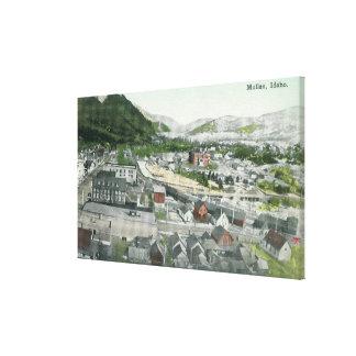 Aerial View of CityMullan, ID Canvas Print