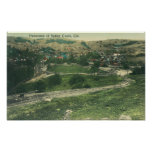 Aerial View of CitySutter Creek, CA Poster