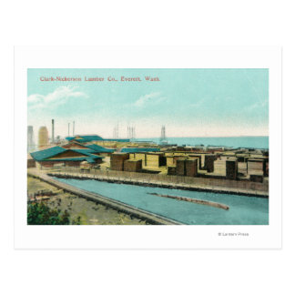 Aerial View of Clark-Nickerson Lumber Co Postcard