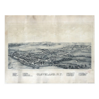 Aerial View of Cleveland, New York (1890) Postcard