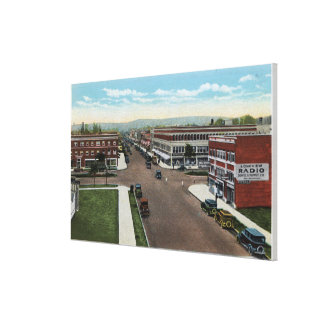Aerial View of Commerce Avenue Canvas Print