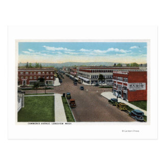 Aerial View of Commerce Avenue Postcard