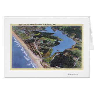 Aerial View of Devil's Lake Greeting Card
