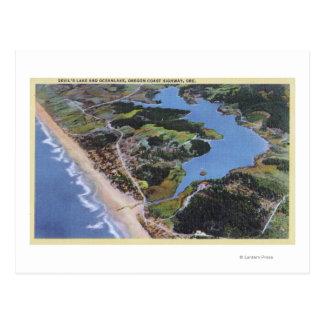 Aerial View of Devil's Lake Postcard
