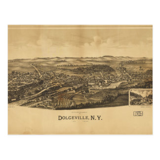 Aerial View of Dolgeville, New York (1890) Postcard
