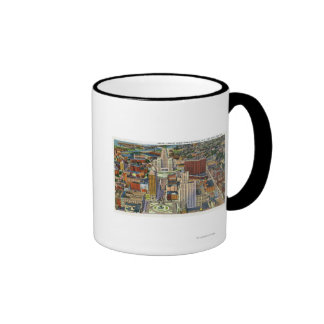Aerial View of Downtown and the Civic Center Ringer Coffee Mug
