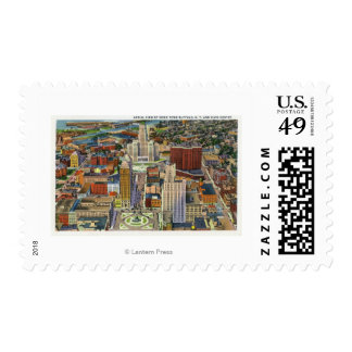 Aerial View of Downtown and the Civic Center Postage