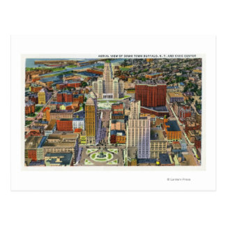 Aerial View of Downtown and the Civic Center Postcard