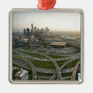 Aerial view of downtown Dallas, Texas Metal Ornament