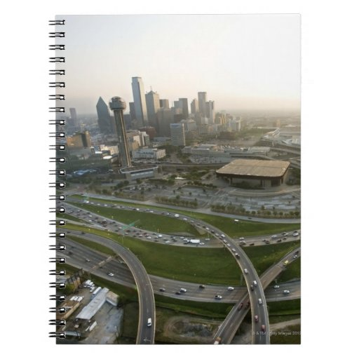 Aerial view of downtown Dallas, Texas Spiral Notebook