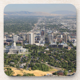 Aerial view of downtown Salt Lake City, Utah Coaster