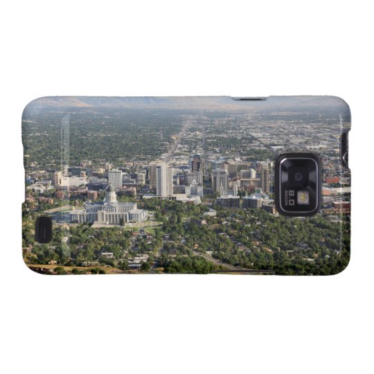 Aerial view of downtown Salt Lake City, Utah Galaxy S2 Case