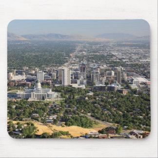Aerial view of downtown Salt Lake City, Utah Mousepad