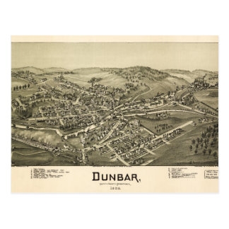 Aerial View of Dunbar, Pennsylvania (1900) Postcard