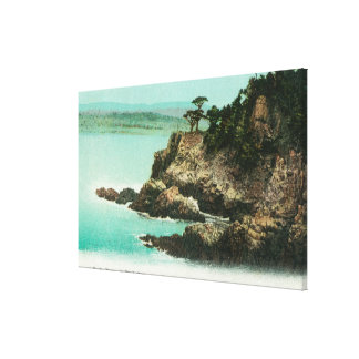 Aerial View of Eagle Dome at Point Lobos Canvas Print