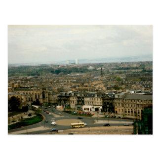 Aerial view of Edinburgh - Scotland Postcard