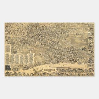 Aerial View of Elizabeth, New Jersey (1898) Rectangular Sticker