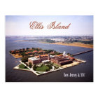 Aerial view of Ellis Island, NJ & NY Postcard