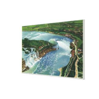 Aerial View of Entire Niagara Falls 2 Canvas Print