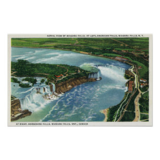 Aerial View of Entire Niagara Falls 2 Print
