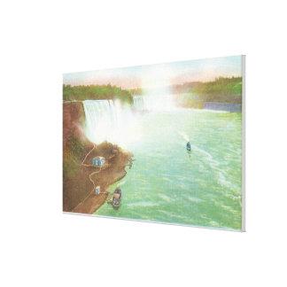 Aerial View of Entire Niagara Falls Canvas Print