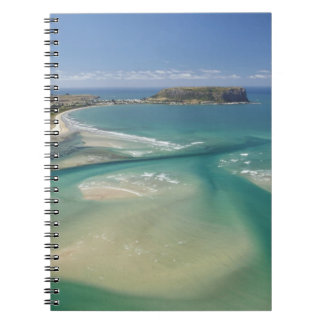 Aerial view of estuary, Sawyer Bay, Stanley and Note Book