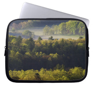 Aerial view of forest in Cades Cove, Great Smoky Laptop Sleeve